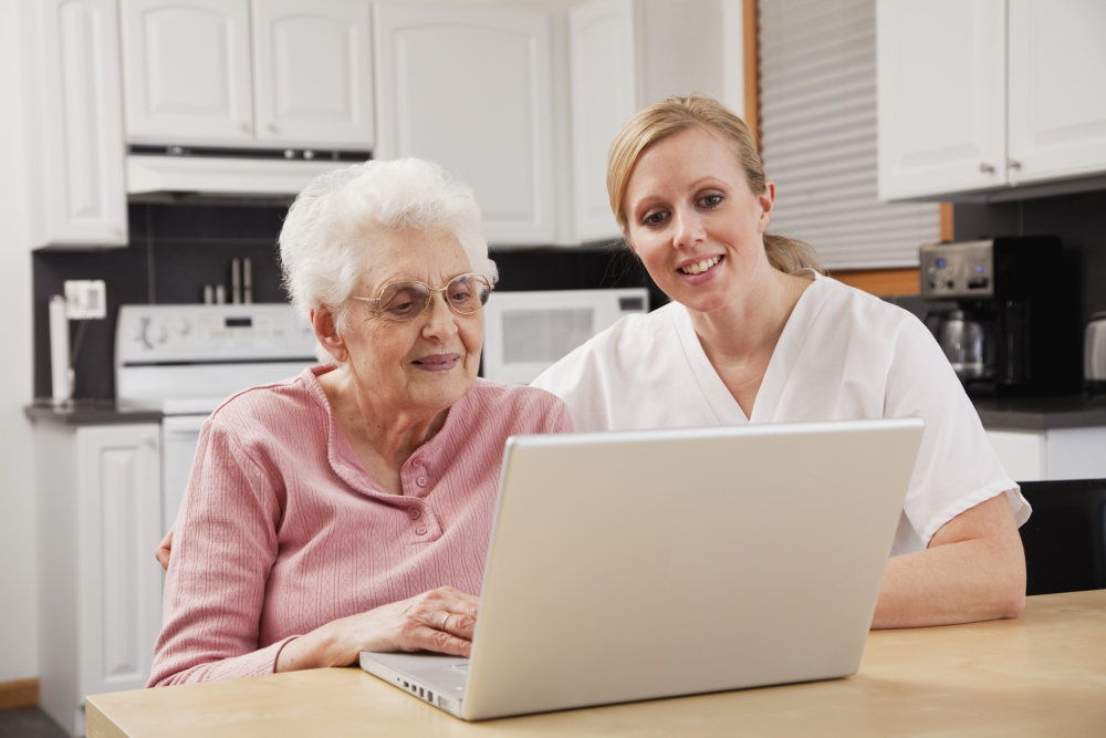 Older Adults Online with Caregiver